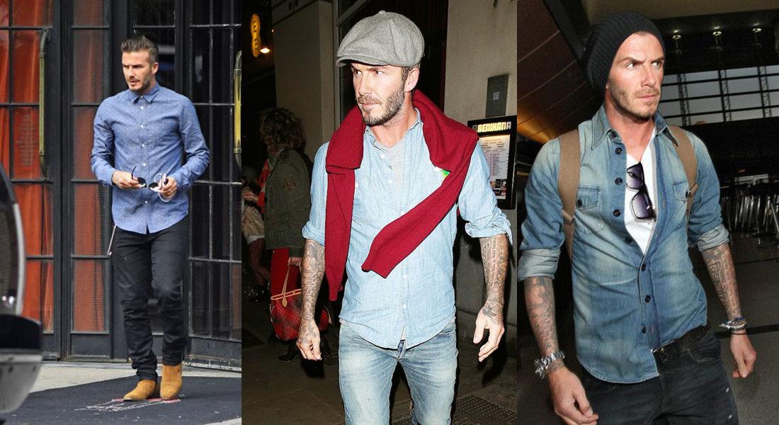 Beckham loves chambray