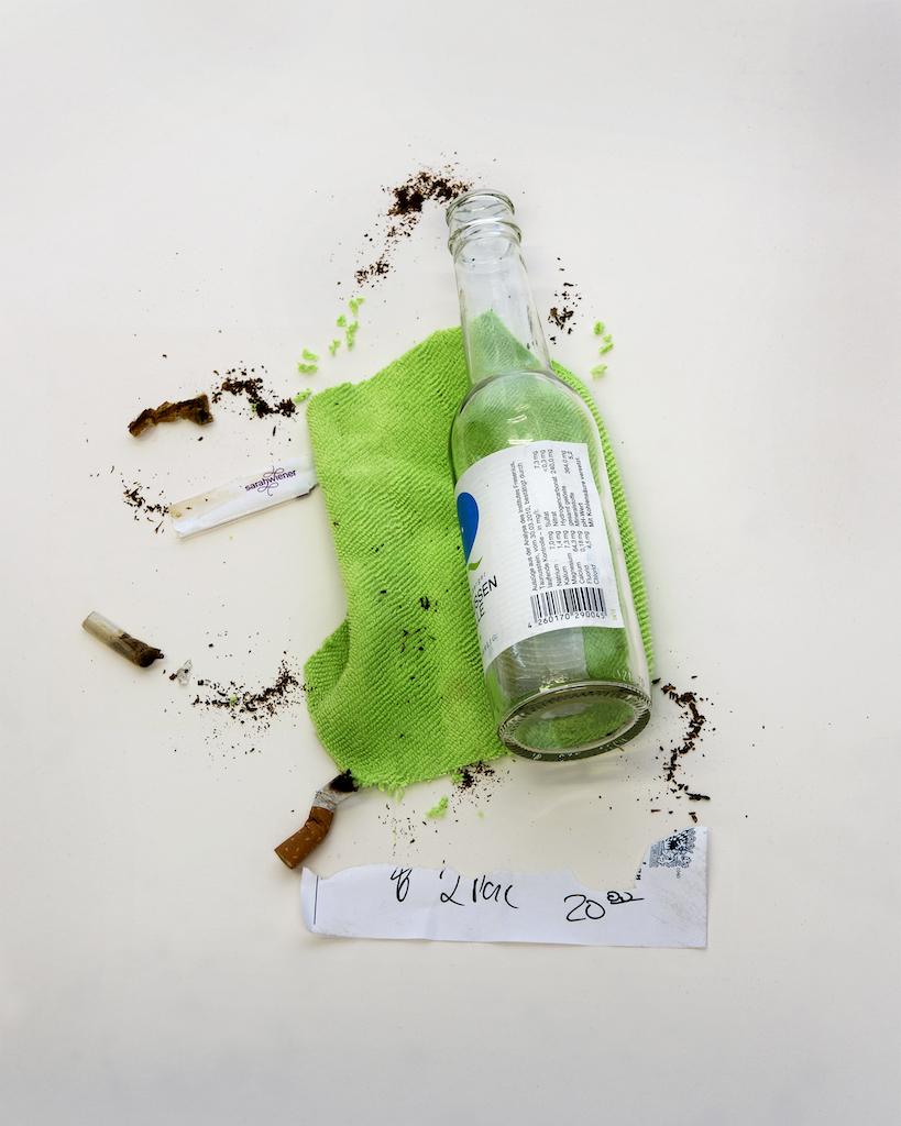 "Joyce Crago, Hamburger Bahnhof, 2015, Green Fabric, pigment inks on gloss fibre paper, 22"" x 27.5"""